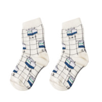 Milk Grid Socks
