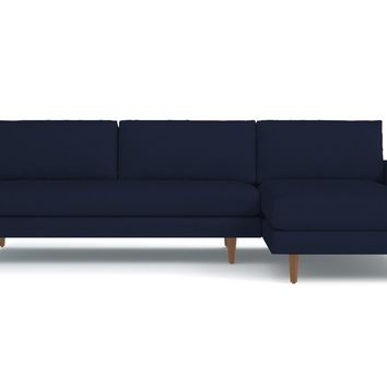 Scott 2pc Sectional Sofa RAF in ECLIPSE VELVET - CLEARANCE