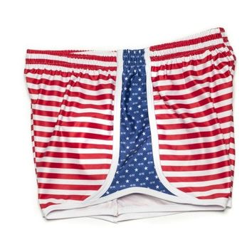 Phi Mu Shorts in Red, White and Blue by Krass & Co.