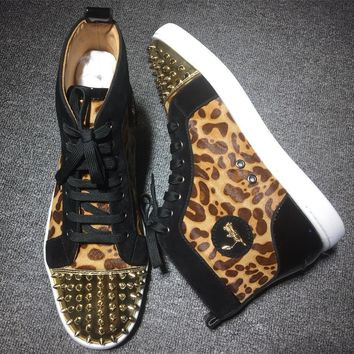 Cl Christian Louboutin Lou Spikes Style #2194 Sneakers Fashion Shoes