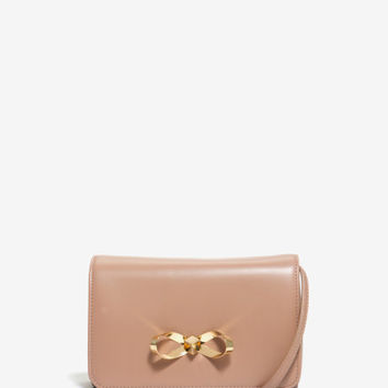 Loop bow leather clutch bag - Mink | Bags | Ted Baker