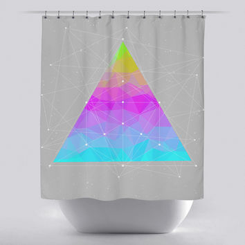Unique Shower Curtain - Dots will Connect Triangle by Soaring Anchor Designs