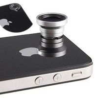 Magnetic 0.67X Wide Angle / Macro Lens Designed for Apple iPhone 4 iPhone 4S iPod Nano 5 iPad