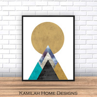 Geometric Decor Modern Prints Abstract Art Prints Abstract Poster Geometric Wall Art, (300 dpi) JPG, Instant Digital Download