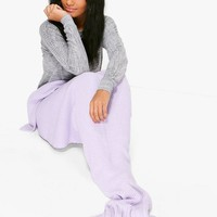 Knitted Mermaid Tail Blanket | Boohoo