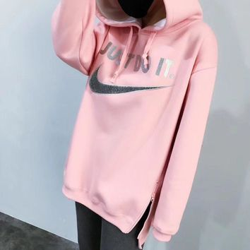 NIKE Women Fashion Hoodie Top Sweater Pullover