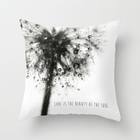 love is the beauty of the soul Throw Pillow by ingz