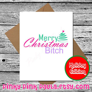 Funny Cute Christmas Card * Funny Christmas Card * Funny Holidays Card * Cute Card * Merry Christmas * Christmas Humor * Funny Xmas Card *