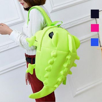 2016 Designer Women Backpacks Cartoon Animal Shoulder School Bag For Teenagers Girls Boys Chameleon Lizard Travel Bag