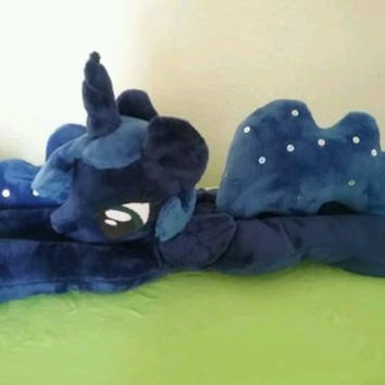 Luna Beanie Floppy Plush My Little Pony plushie Friendship is Magic travel body Fanart