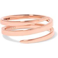 Anita Ko - Coil 18-karat rose gold ring