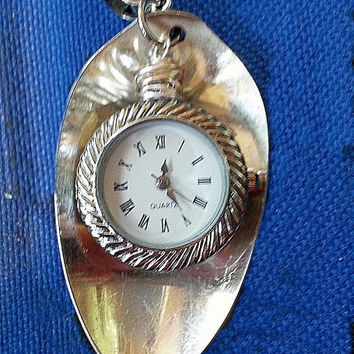 Silverware spoon necklace jewelry watch pendant