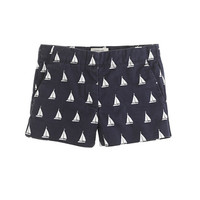 crewcuts Girls Frankie Short In Sailboat Print