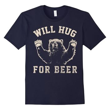 Will Bear Hug For Beer Vintage Collegiate Graphic T-Shirt