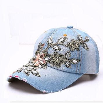 Trendy Winter Jacket RONGZ005 Solid Ripped New Punk Women Casual Handmade Cotton Rhinestone Baseball Caps Snapback Hats Adjustable Casquette Gorros AT_92_12