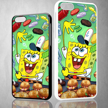 Spongebob Squarepants krabby patty Z0046 iPhone 4S 5S 5C 6 6Plus, iPod 4 5, LG G2 G3, Sony Z2 Case