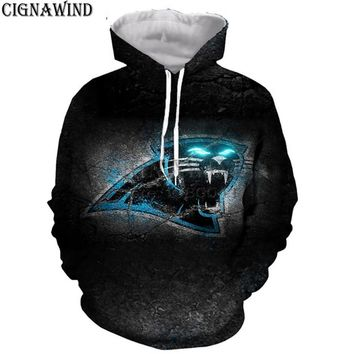 New arrival hoodie men/women Carolina Panthers 3D printed hoodies sweatshirts Long sleeves Harajuku style streetwear tops
