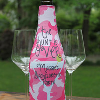 Custom Bachelorette Wine Koozie Perfect Gift for the Bride to be! Bachelorette Girls Weekend favors!