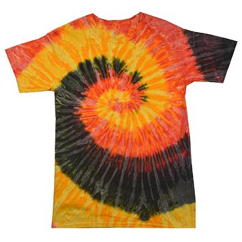 Tie Dye Shirt Multi Color Spiral Black Red Yellow Kingston T-Shirt