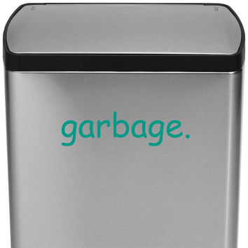 Garbage can decal Garbage can sticker Trash can decal Trash can sticker Kitchen decal Kitchen sticker Kitchen decor Kitchen decorations