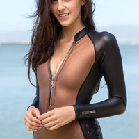 AMUSE SOCIETY - Blocked Long Sleeve Neoprene Suit | Black