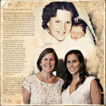 Mother Daughter Parents Gift  Photo Art Custom Photo Editing