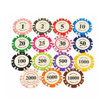 1PC Top-Quality Multi-colors 14G Casino Metal/Clay Poker Chips Custom  EPT Poker Chips NR0104
