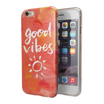 Good Vibes 2-Piece Hybrid INK-Fuzed Case for the iPhone 6/6s or 6/6s Plus