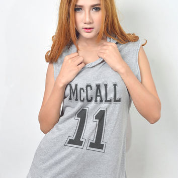 McCall 11 Hoodie Teen Wolf Scott Mccall Shirt Hooded Tank Top Women T-Shirt