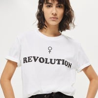 'Revolution' Slogan T-Shirt | Topshop