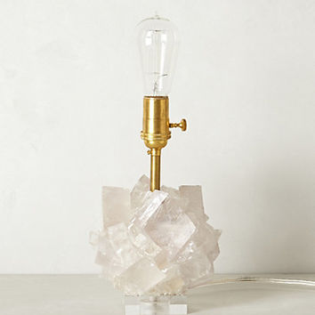 Calcite Crystal Lamp Base