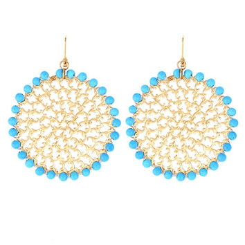 Sylvia Benson Christie Earrings in Turquoise