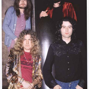 Led Zeppelin Bombshell Band Portrait Poster 24x33