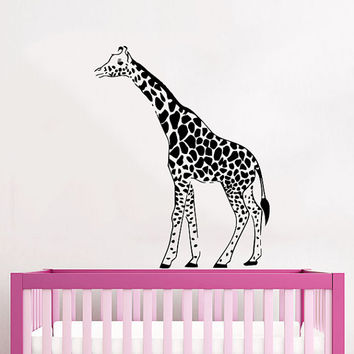 Wall Decals Giraffe Animals Jungle Safari African Childrens Decor Kids Vinyl Sticker Wall Decal Nursery Bedroom Murals Playroom Art SV6051