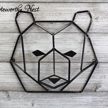 ANY COLOR: Geometric bear Wall Decor // Nursery Decor // bear Decor // bear Wall Hanging // Geometric Animal // Modern Decor // Gallery Wall