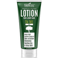 Tea Tree Oil Therapeutic Lotion with Soothing Botanicals Defend Against Common Causes of Skin Irritation, Body Acne, Foot & Body Odor, Ringworm, Athlete's Foot & Antifungal. Soften Dry Skin & Callous