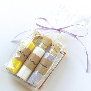 Tea Party Favor Flavored Sugar with Tea- 25 Sets of Mini Bottle Favors for Weddings, Showers,  Tea Parties, Graduations, Bat Mitzvah