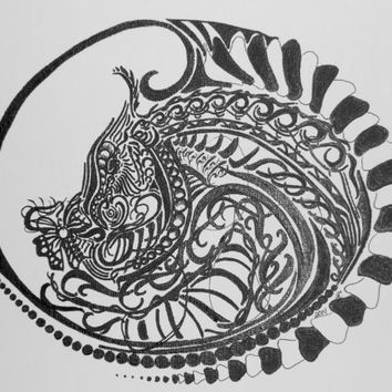 Dragon Egg Sharpie Art Print