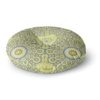 "Miranda Mol ""Multifaceted Flowers"" Round Floor Pillow"