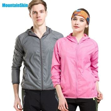 Mountainskin Men&Women Quick Dry Breathable Jackets Outdoor Sports Skin Clothing Camping Hiking Male&Female UV Protective Coats