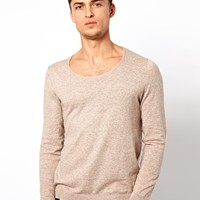 ASOS Scoop Neck Sweater - Oatmeal