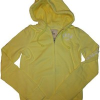 Women's / Girl's Hollister Hooded Sweat Jacket Hoodie Pacific Yellow