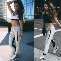 2016 Fashion Sexy Elastic Stretch Casual Fashion Sports Yoga Gym Exercise Sweatpants Pants   _ 8528