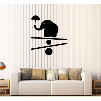Vinyl Wall Decal Baby Elephant Animal Child Room Nursery Stickers Unique Gift (599ig)
