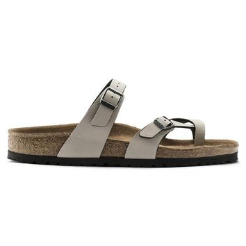 Birkenstock Mayari Birko Flor Pull Up Stone 1009990/1009991 Sandals - Ready Stock