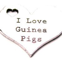 I Love Guinea Pigs Heart Genuine American Pewter Charm