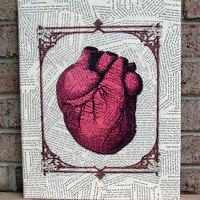 Anatomical Heart Canvas Wall Art by Stoic on Etsy