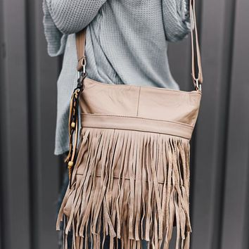Western Fringe Leather Crossbody