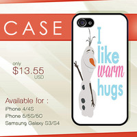 Disney frozen Olaf hard plastic available for iphone 4/4s,5/5s/5c and samsung galaxy S3/S4/S5 case