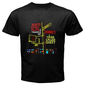 Hight Quality Men's T-Shirt A TRIBE CALLED QUEST Hip Hop Rap Group Tops Tees Shirt Customized T Shirt Adults Plus Size S-3XL